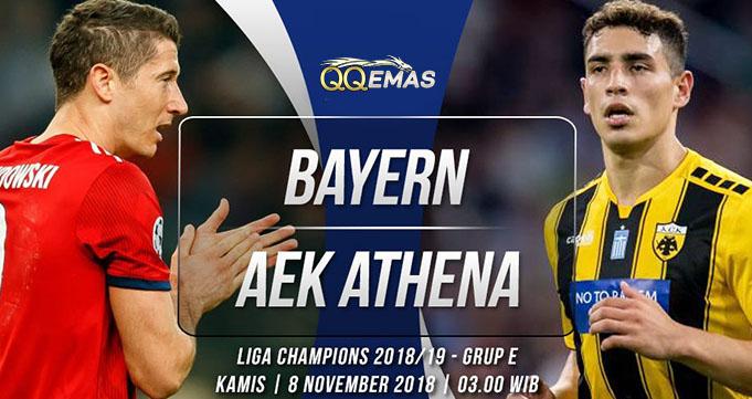 Prediksi Bola Bayern Vs AEK 8 Oktober 2018