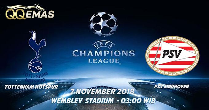 Prediksi Bola Tottenham Vs PSV Eindhoven 7 Oktober 2018
