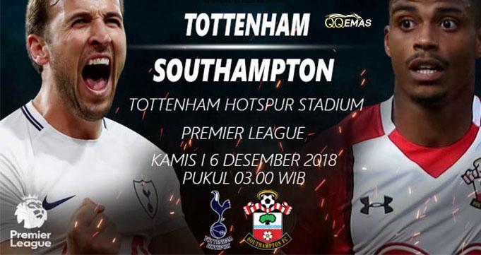 Prediksi Bola Tottenham Vs Southampton 6 Desember 2018