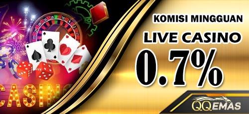 komisi live casino