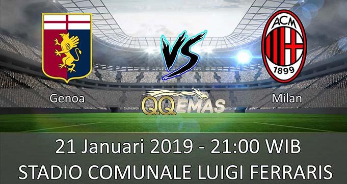 Prediksi Bola Genoa Vs Milan 21 Januari 2019