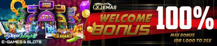 welcome bonus 100% slot
