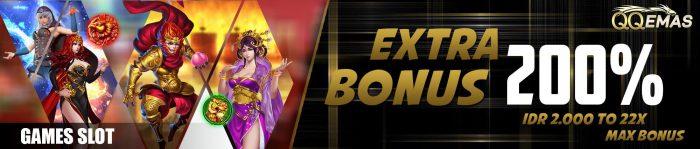extra bonus 200 slot